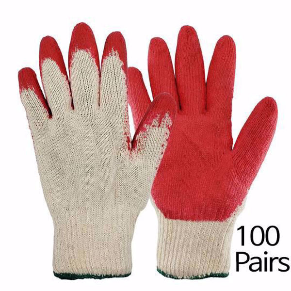 Picture of [The Elixir] String Knit Palm, Latex Dipped Nitrile Coated Work Gloves 100Pairs for General Purpose, Safety Working Gloves, Made in Korea
